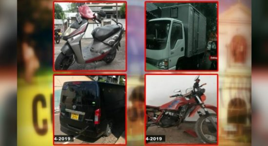 Easter Bombings: 04 suspicious vehicles on the list located