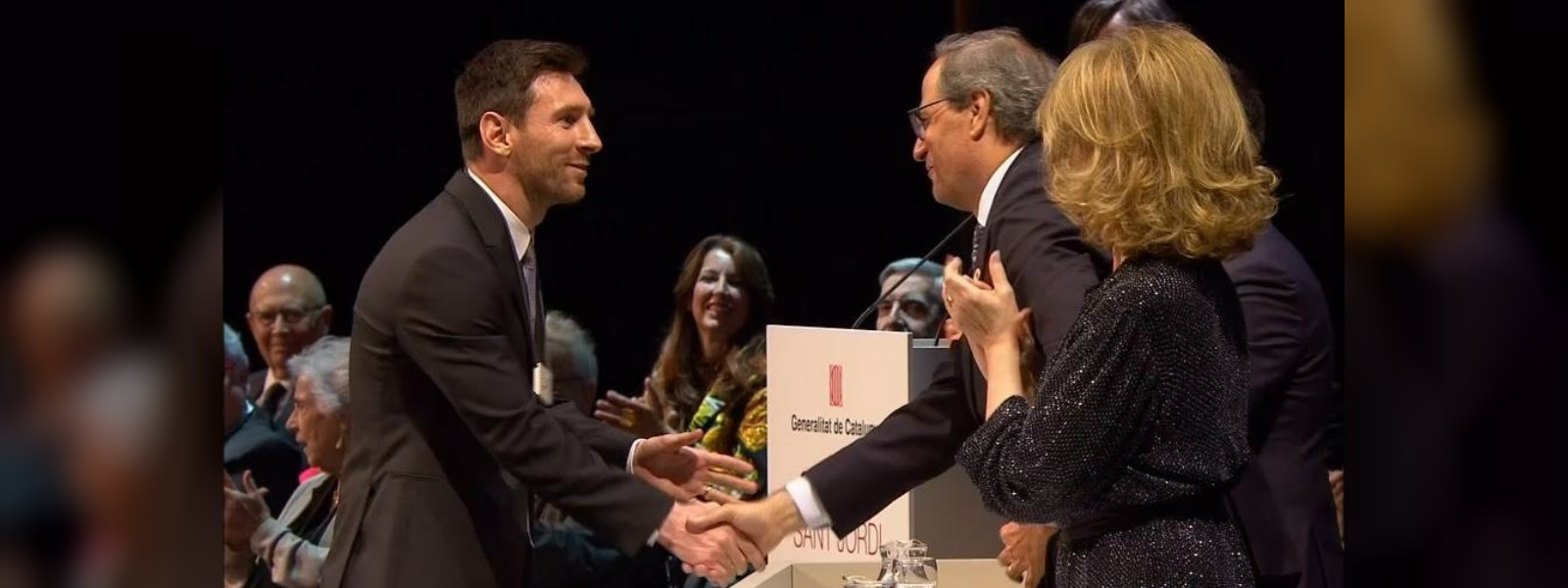 Barcelona superstar Messi awarded Catalan Creu de Sant Jordi honour