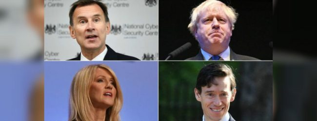 Contenders line up for post of British PM