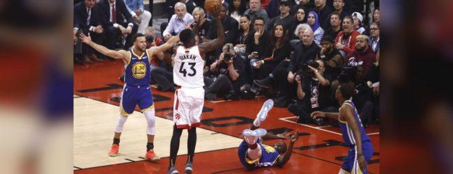 Raptors wins opening game of NBA finals