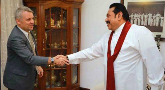 German Ambassador to Sri Lanka calls on Opposition Leader Mahinda Rajapaksa