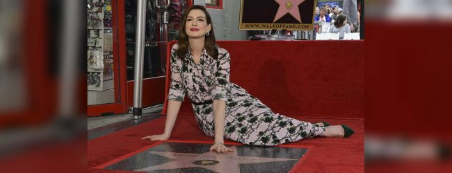 Anne Hathaway honored with star in Hollywood
