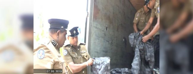 1116 military camouflage uniforms discovered at Seeduwa