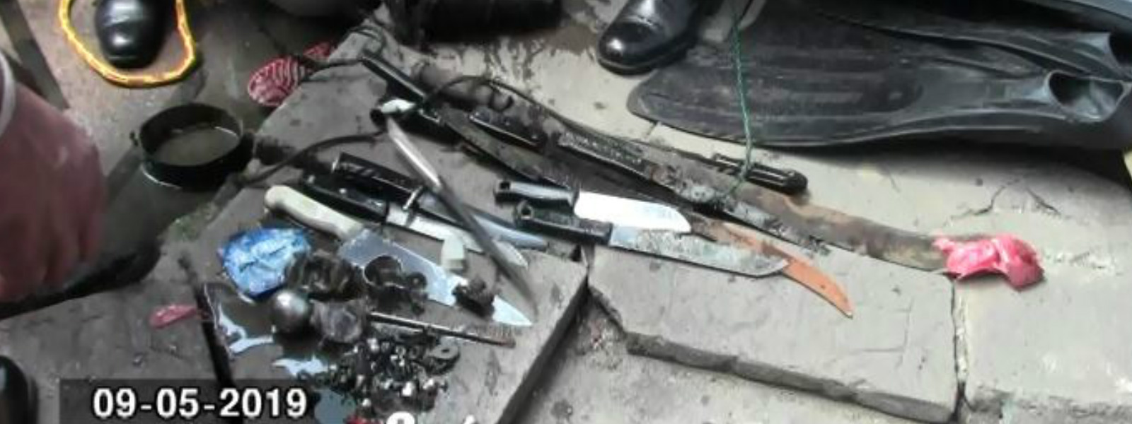 Weapons discovered in wells around Maligawatte
