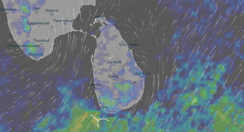 Heavy rainfall of 100 mm in Central, Sabaragamuwa, Southern and Uva and Kalutara