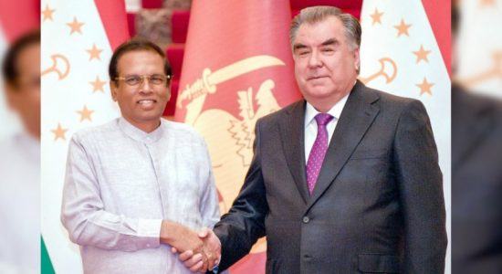 President holds bilateral talks with Tajikistan counterpart