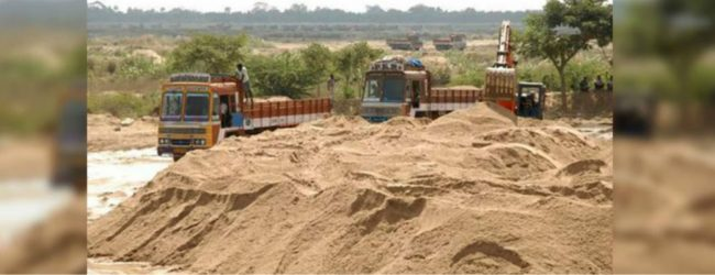 Two illegal sand mining rackets raided