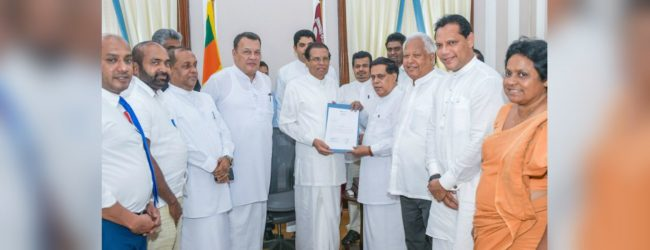 SLFP calls on President to contest next Presidential Election