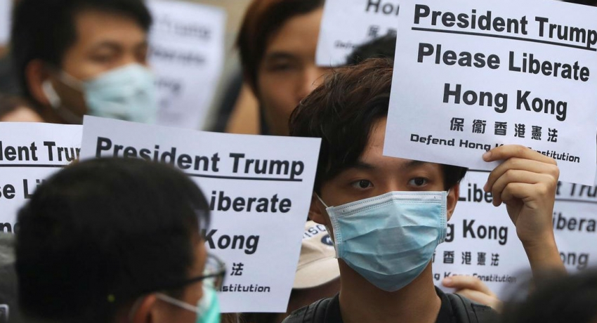 "Hong Kong activists call on G20 leaders to help ""liberate"" city"