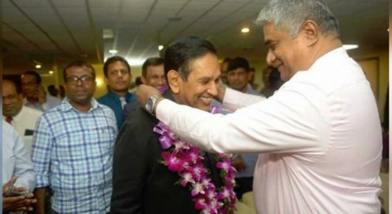 Rajitha Senaratne arrives after being reappointed as Deputy Chaiperson of WHO