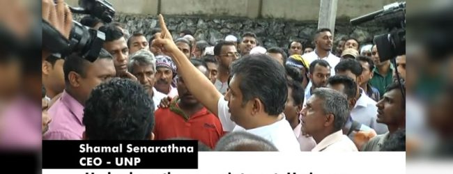 SLTB workers protest at Sirikotha demanding salary increments