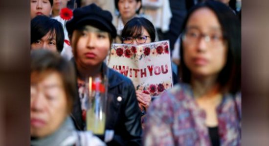 Sexual abuse survivors urge for Japan rape law reform in a protest