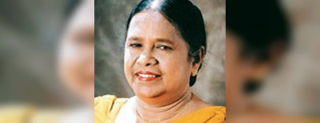 Veteran Singer Indrani Senaratne passed away at 83