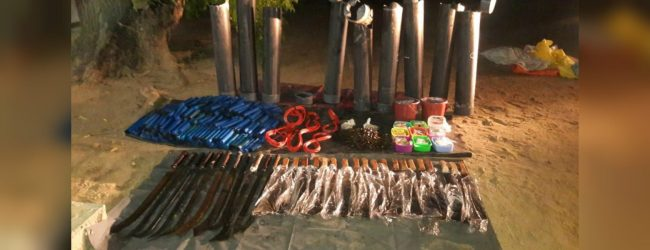 CID unearths haul of weapons in Ollikulam