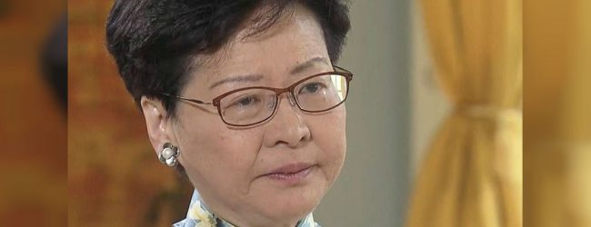 "'How can I betray Hong Kong"" asks tearful Chief Executive Carrie Lam"