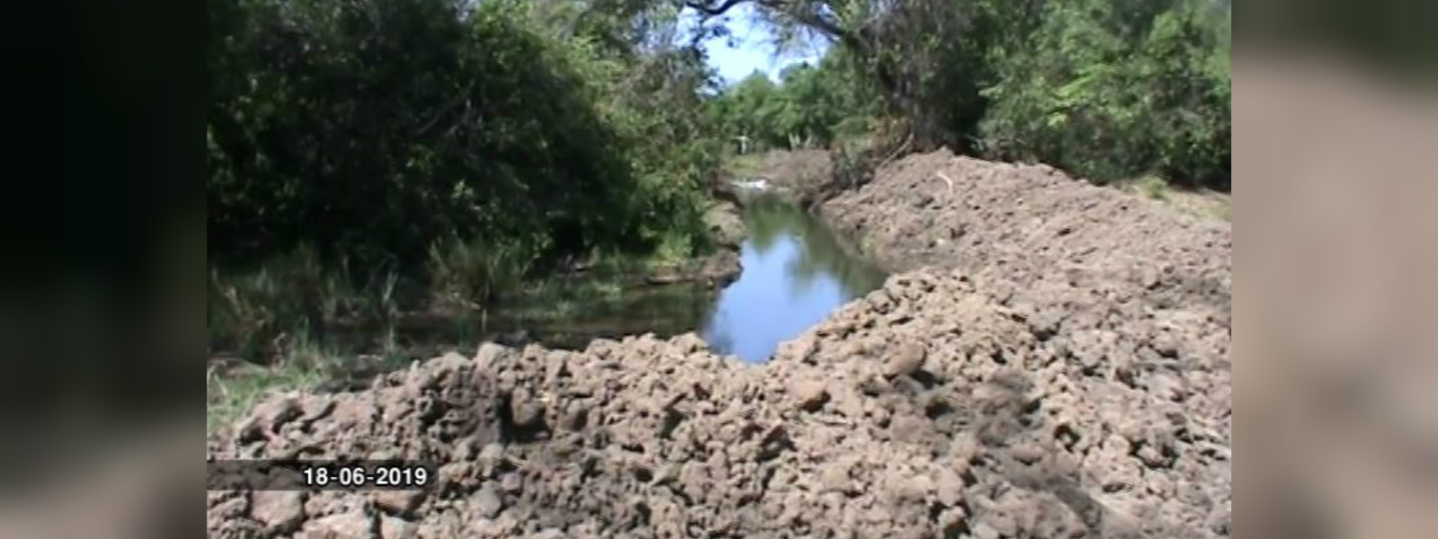 Farmers building unauthorized canal through Somawathi National Park