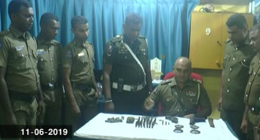 Cache of ammunition and a firearm discovered in Moratumulla