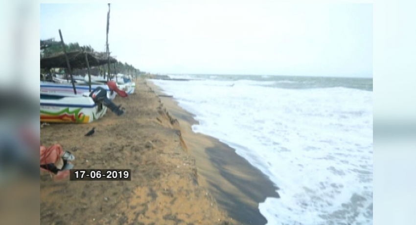 Over 200 metres of beach erosion in Chilaw