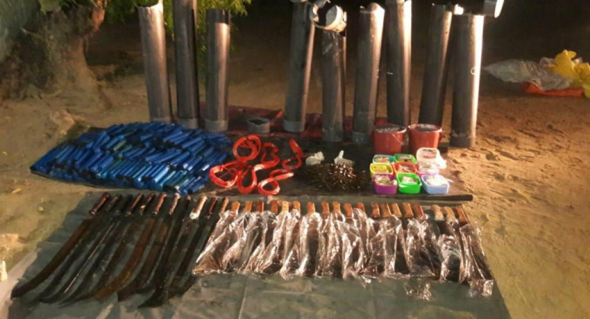 CID unearths haul of weapons in Ollikulam
