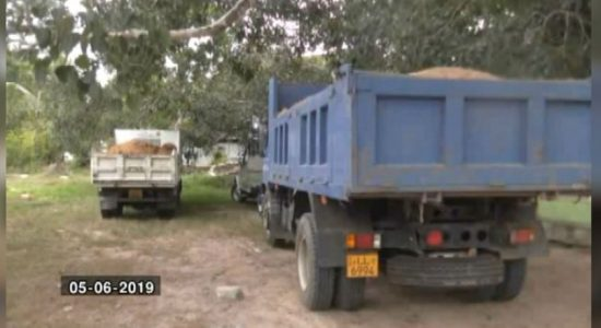 Pradeshiya Sabha tipper truck seized for illegally transporting soil to a private land