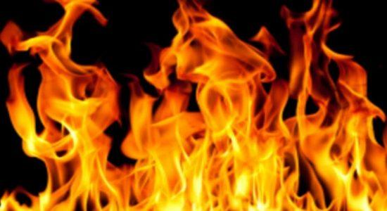 Fire destroys matchbox warehouse in Kandy