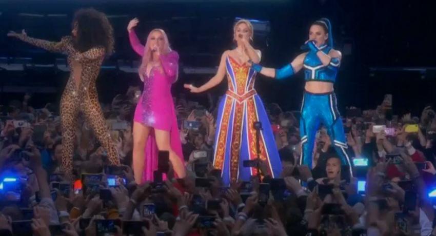 Spice Girls rock London's Wembley Stadium