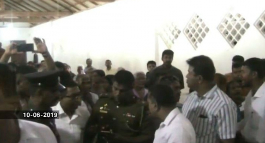 Tense situation over the construction of crematorium in Weligama