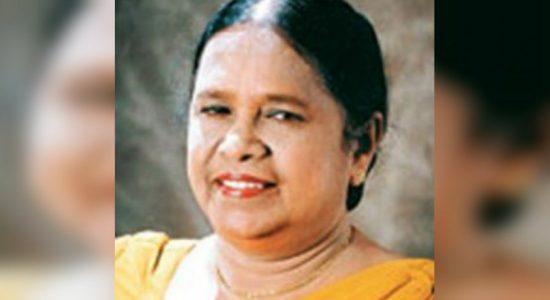 Veteran Singer Indrani Senaratne passed away at 83