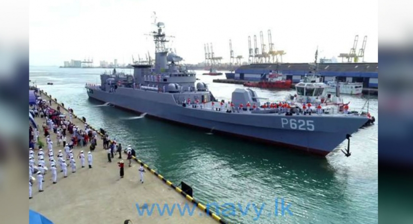 More fire power for Navy : Chinese gifted P-625 arrives at Colombo port