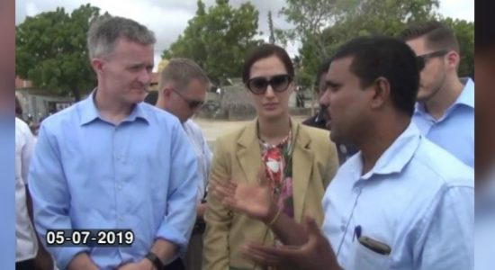 US senate officials pay visit to Sri Lanka to inspect lands in Jaffna; due process not followed