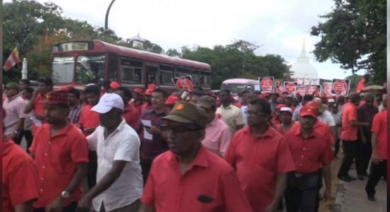 "JVP's ""Paada Satana"" reached Nugegoda today"