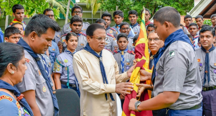 SL flag officially handed over to World Scout Jamboree delegation