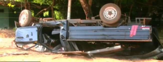 Military SUV accident: one dead nine injured