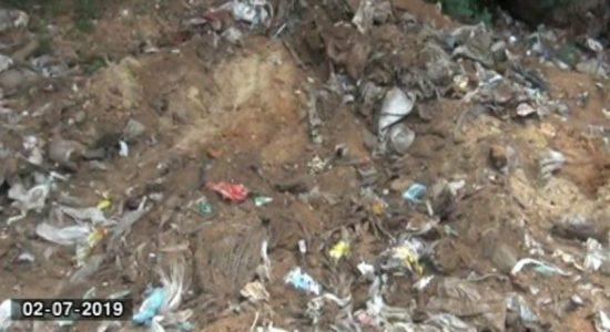 Public Cemetery in Tissa wewa becoming garbage dump