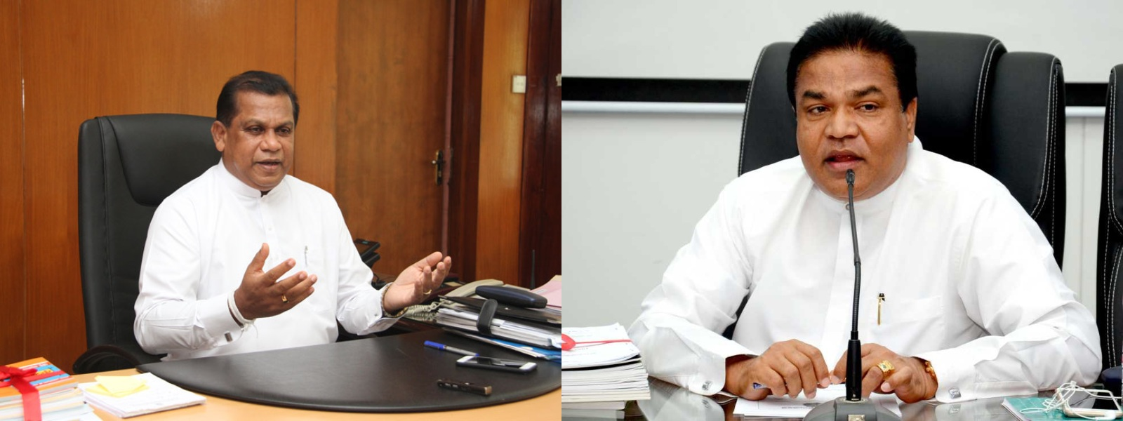 Ministries of Ranjith Bandara and P. Harison amended