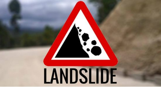 Landslide red notice for three areas issued