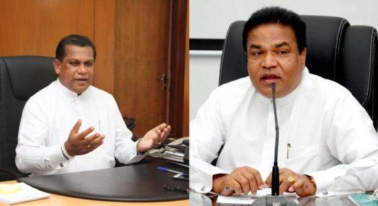 Ministries of Ranjith Bandara and P. Harison amended