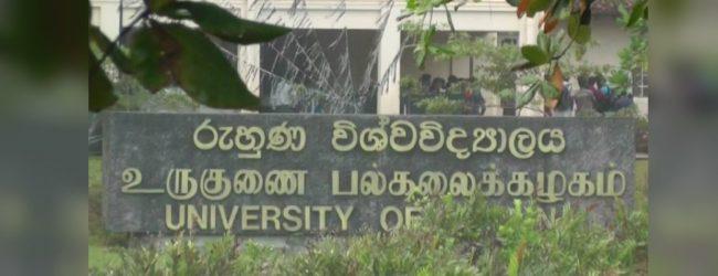 Ruhuna University; Wellamadama premises reopens tomorrow