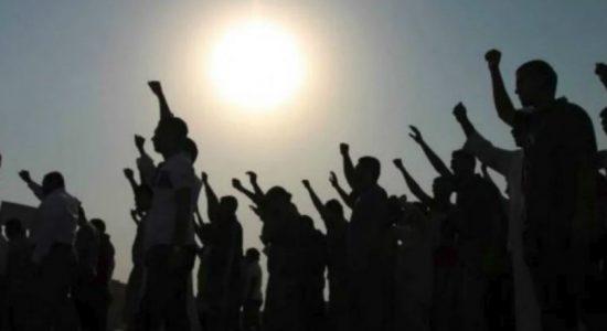 Train accident in Tudella : Residents protest