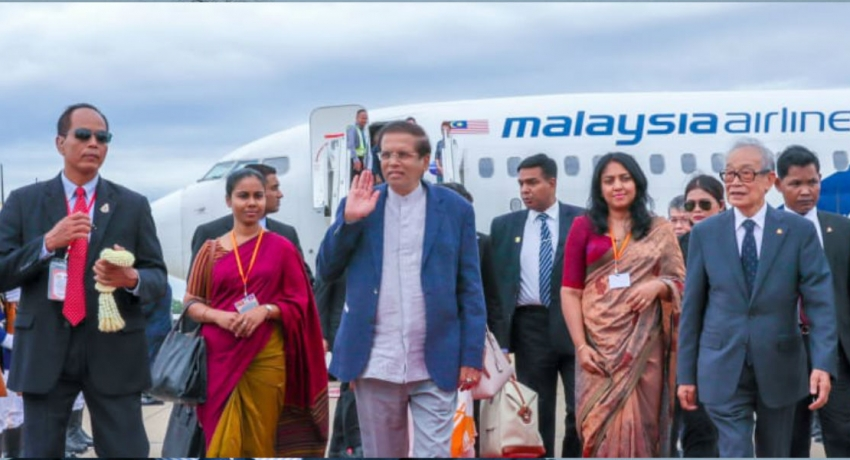 President on a state visit to Cambodia
