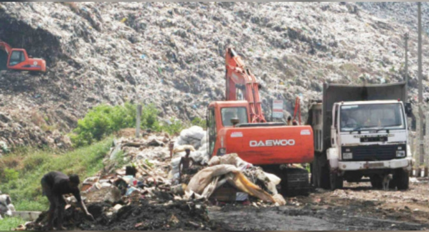 Disposal of garbage at Aruwakkalu commences
