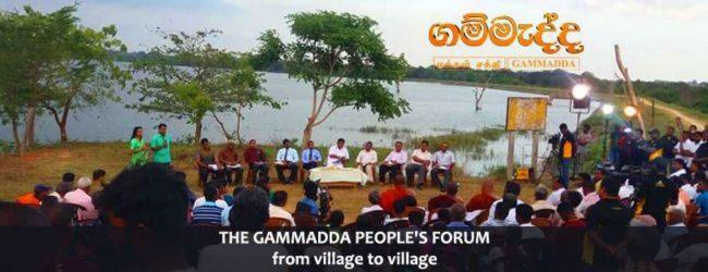 Gammadda Village Forums begins journey across the island