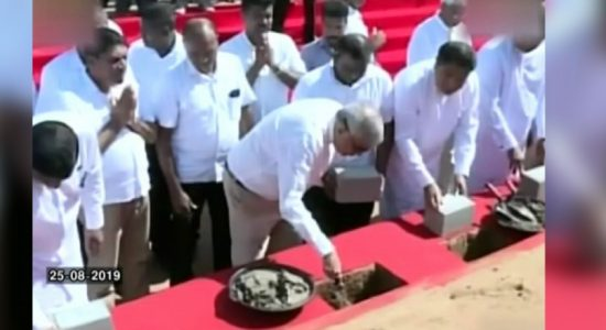 PM lays foundation stone for third largest reservoir in Sri Lanka