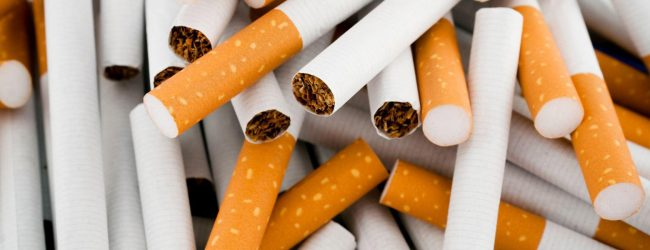 Suspect arrested with cigarettes worth Rs. 600,000 at BIA