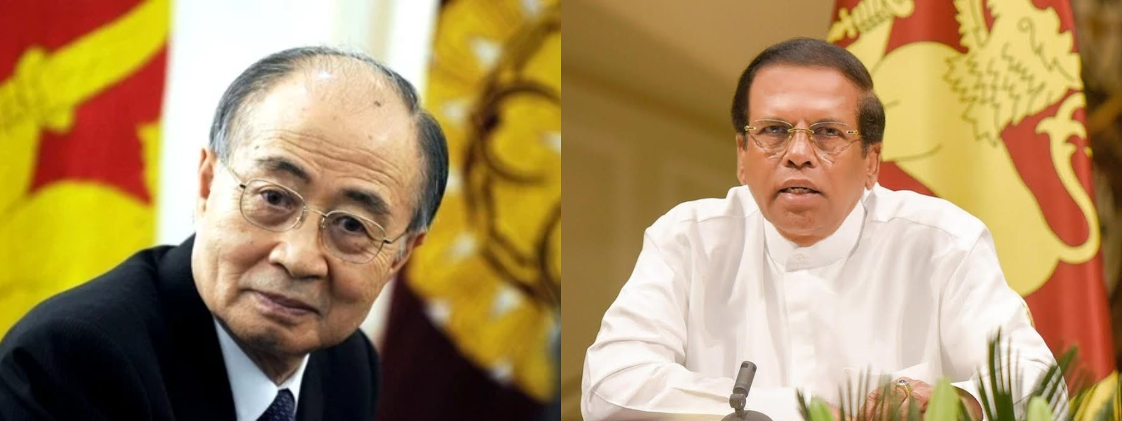 Japanese peace envoy Yasushi Akashi calls on President Sirisena