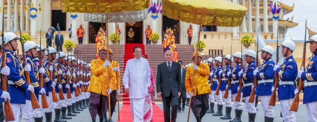 King of Cambodia and President Sirisena issue a joint statement