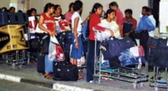 60 migrant workers return to Sri Lanka from Kuwait