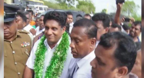Sajith Premadasa warmly welcomed in Hambantota