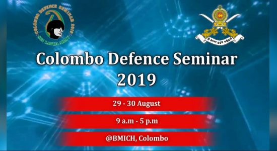 9th Colombo Defence Seminar from today