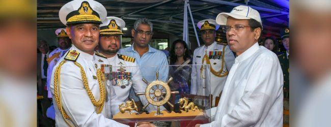 President commissions P625 patrol vessel donated to Sri Lanka Navy